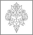 Chinese dragon doodle vector image