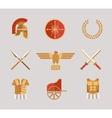 Set of ancient warrior accessories vector image
