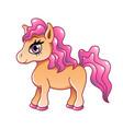 cute cartoon pony isolated on white vector image