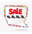 creative sale tag or paper banner abstract vector image