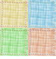 set of textile backgrounds vector image