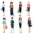 Women adult in business office and fashion clothes vector image