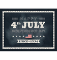 4th july independence day chalkboard background vector image