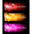 abstract banners with hearts vector image vector image