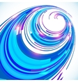 Abstract blue techno perspective spiral background vector image vector image