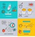 Biotechnology Icon Set vector image vector image