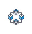 blockchain blue icon block chain concept vector image vector image