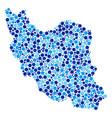 blue circles iran map composition vector image
