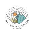 camping into wilderness logo design travel vector image vector image