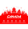 canada travel landmarks vector image vector image