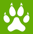 cat paw icon green vector image vector image