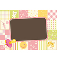 childrens border of the patterns vector image vector image