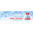 christmas and new year facebook cover vector image vector image
