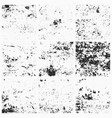 collection of grunge textures vector image vector image