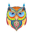 colorful owl silhouette vector image
