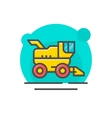 Combine harvester concept vector image vector image