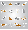 construction stickers set eps10 vector image vector image