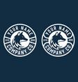 creative circle fox logo round fox logo vector image