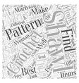 crochet shawls Word Cloud Concept vector image vector image