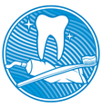 Dental symbol - tooth vector image