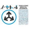 Direction Variants Icon with 1000 Medical Business vector image vector image
