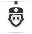 doctor avatar icon on white background vector image vector image
