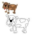 dog bulldog coloring vector image vector image