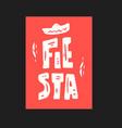 fiesta icon vector image vector image