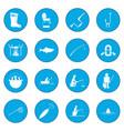 fishing icon blue vector image