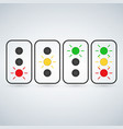 flash traffic light set or light indicators vector image