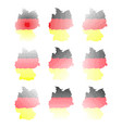 germany map halftone symbol icon design german vector image