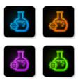 glowing neon bioengineering icon isolated on vector image