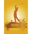golf poster1 vector image vector image