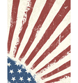 Grunge american flag background vertical vector image