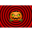 Halloween card with pumpkin vector image vector image