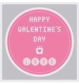 Happy valentine s day card17 vector image vector image