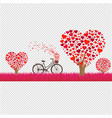 happy valentines day border vector image vector image