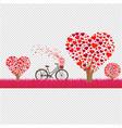 happy valentines day border vector image vector image