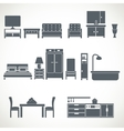 Home furniture design blackicons set vector image vector image
