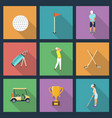 icons young people playing golf vector image