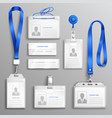 id card holders realistic set vector image vector image