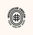 initial hs sh monogram emblem logo template vector image vector image