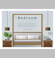 Interior design bedroom background 7 vector image vector image