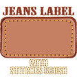 jeans label vector image