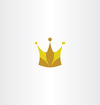 king crown logo icon symbol vector image