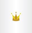 king crown logo icon symbol vector image