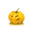 Laughing pumpkin vector image
