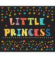 Little Princess Cute greeting card for little girl vector image vector image