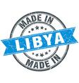 made in Libya blue round vintage stamp vector image vector image