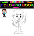 male teacher coloring book vector image vector image